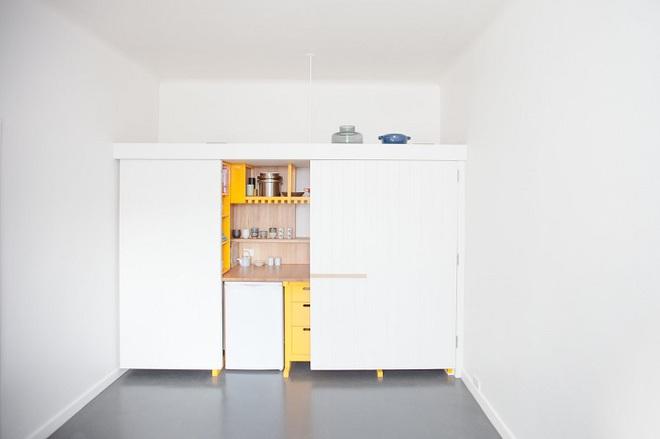 Căn bếp tuy nhỏ nhưng cực kì tiện lợi dành cho những căn hộ có diện tích hẹp - Ảnh 3.