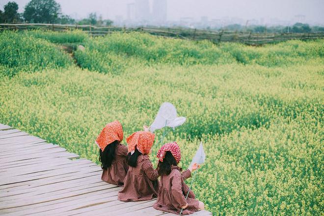 Bộ ba bạn thân Mầm - Mũm - Mon xuất hiện siêu yêu trong bộ ảnh chụp trên cánh đồng hoa cải - Ảnh 29.