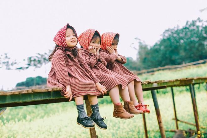 Bộ ba bạn thân Mầm - Mũm - Mon xuất hiện siêu yêu trong bộ ảnh chụp trên cánh đồng hoa cải - Ảnh 12.