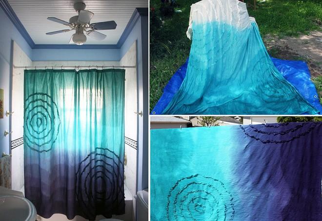 6 ý tưởng tự tay thiết kế rèm nhà tắm đáng để học tập - Ảnh 2.