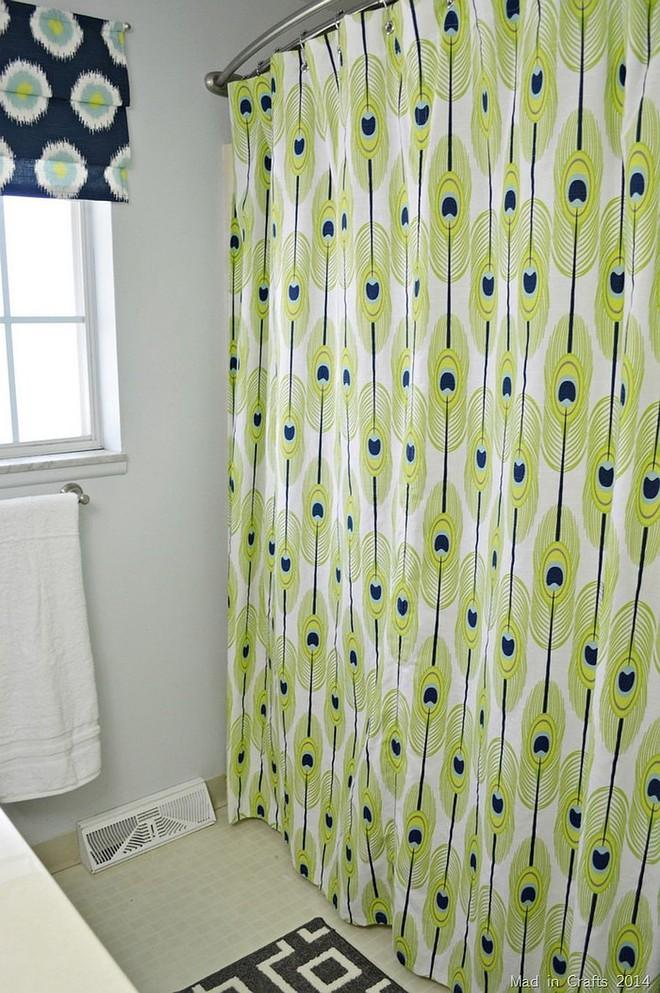 6 ý tưởng tự tay thiết kế rèm nhà tắm đáng để học tập - Ảnh 3.