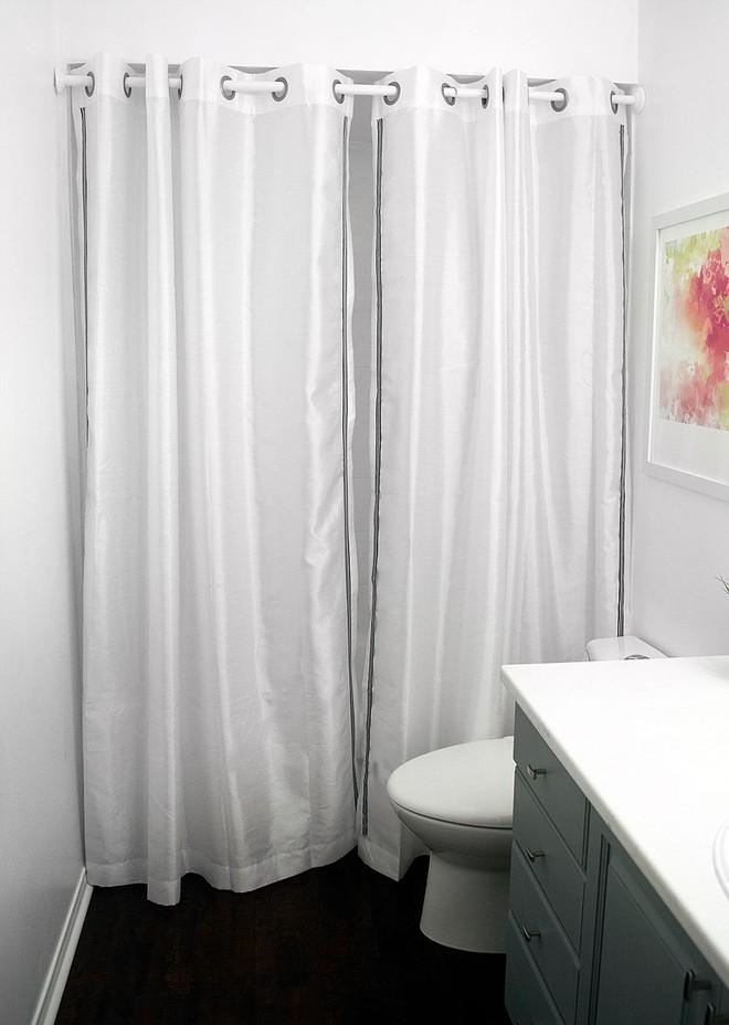 6 ý tưởng tự tay thiết kế rèm nhà tắm đáng để học tập - Ảnh 7.
