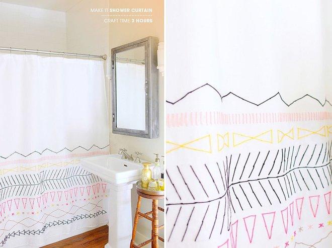 6 ý tưởng tự tay thiết kế rèm nhà tắm đáng để học tập - Ảnh 8.