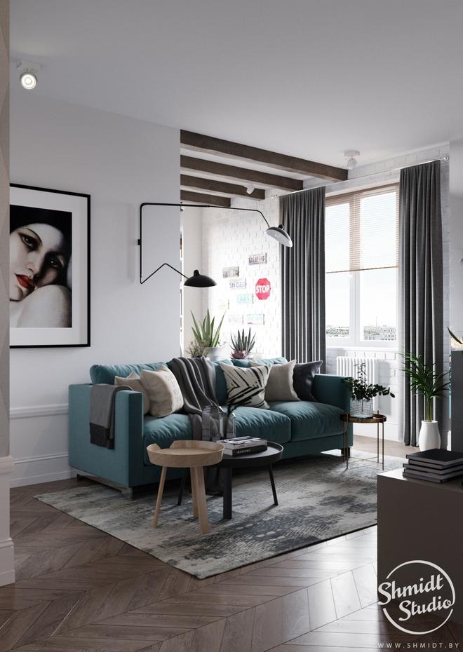 Căn hộ 3 phòng ngủ theo phong cách Scandinavian đẹp hoàn hảo như một bài thơ - Ảnh 2.