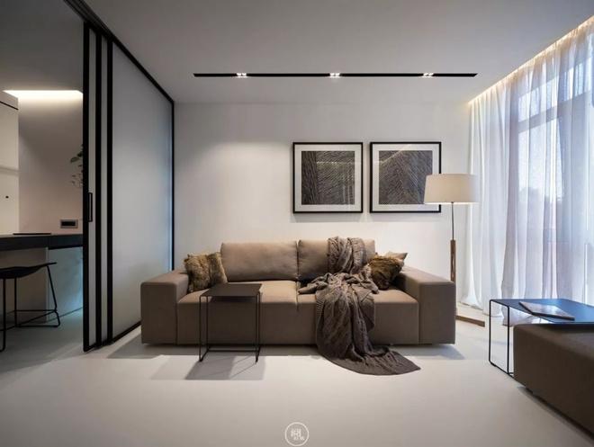 Căn hộ 44m² đẹp không giới hạn nhờ áp dụng cực hiệu quả phong cách tối giản - Ảnh 1.