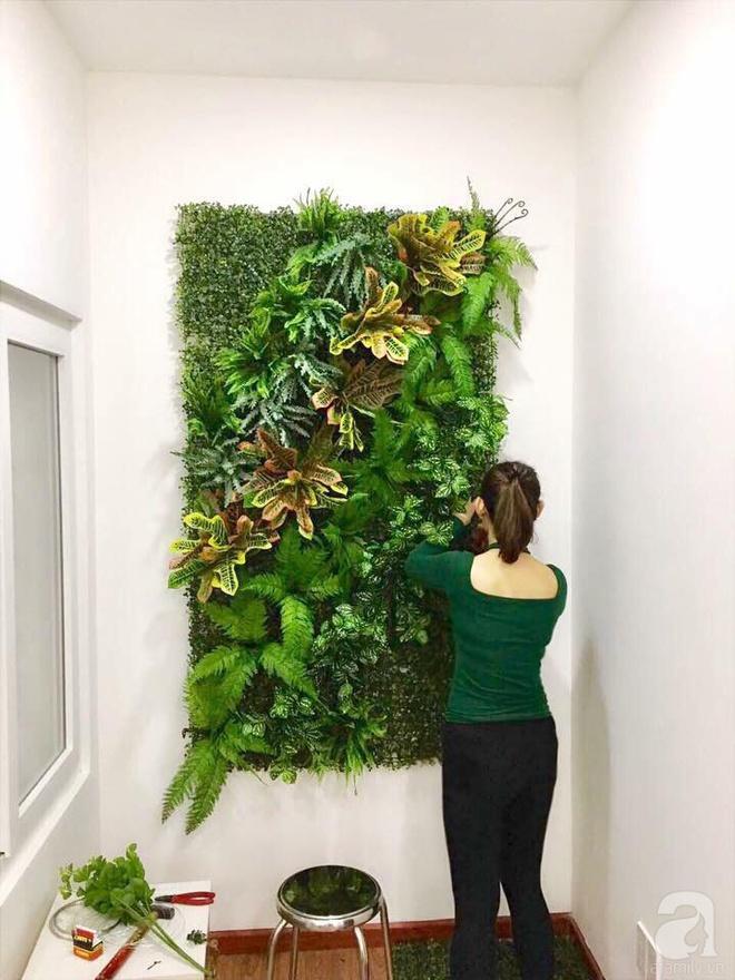 Bà mẹ hai con ở Sài Gòn chia sẻ cách tự tay làm bức tường xanh tươi đón Tết chỉ với 1 triệu đồng - Ảnh 9.