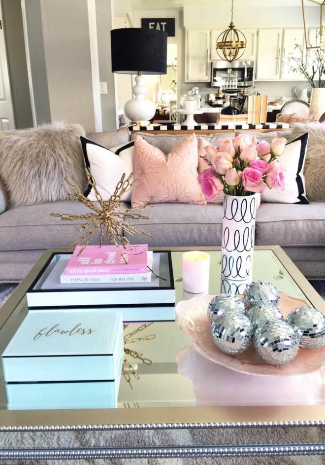 14 cách làm đẹp phòng khách với hoa hân hoan đón mùa Xuân đang về - Ảnh 3.