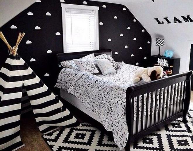 Những kiểu trang trí tường đen thật đẹp mắt trong phòng ngủ của các bé - Ảnh 11.