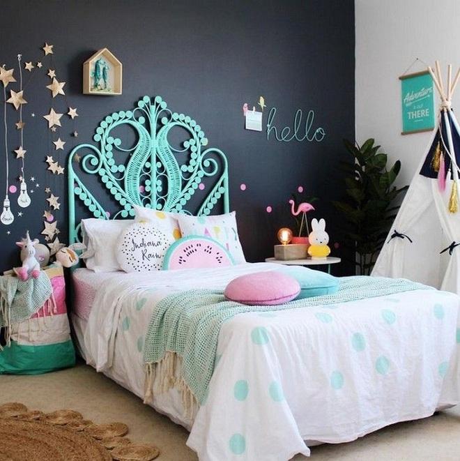 Những kiểu trang trí tường đen thật đẹp mắt trong phòng ngủ của các bé - Ảnh 15.