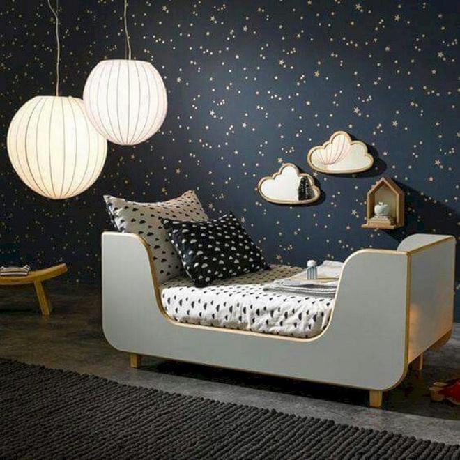Những kiểu trang trí tường đen thật đẹp mắt trong phòng ngủ của các bé - Ảnh 16.