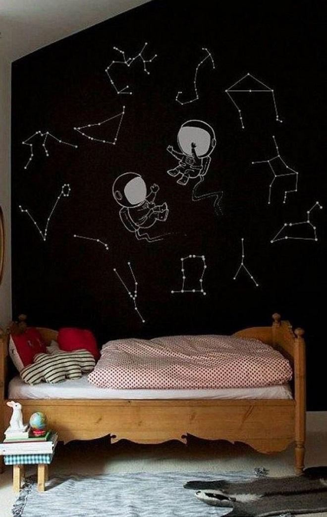 Những kiểu trang trí tường đen thật đẹp mắt trong phòng ngủ của các bé - Ảnh 19.