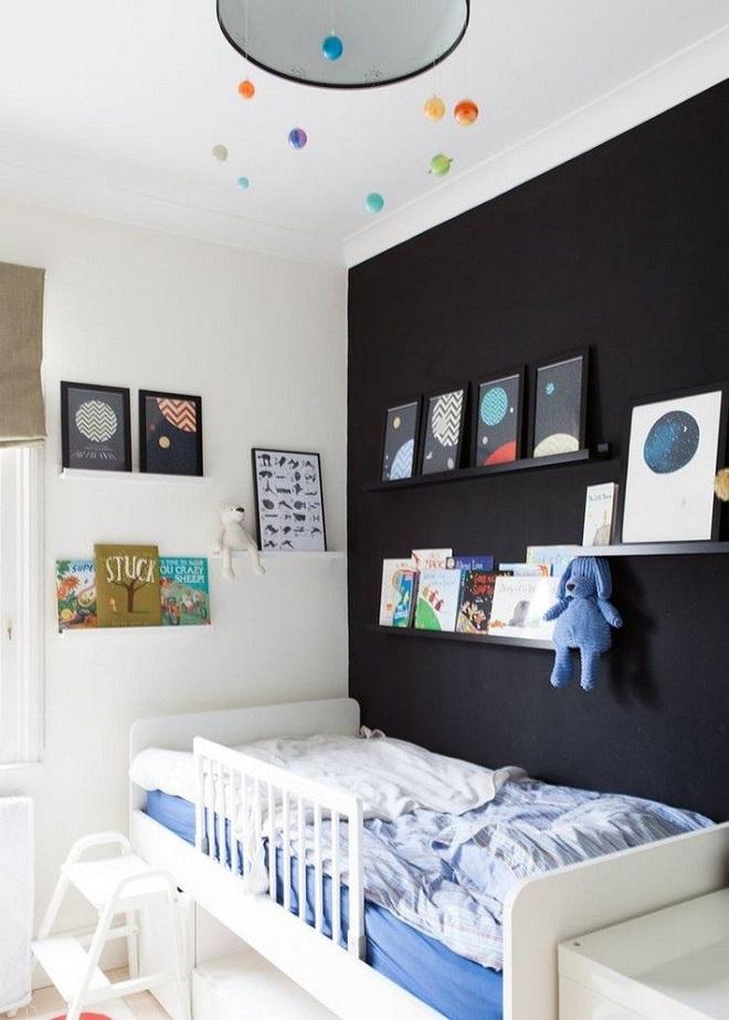 Những kiểu trang trí tường đen thật đẹp mắt trong phòng ngủ của các bé - Ảnh 21.