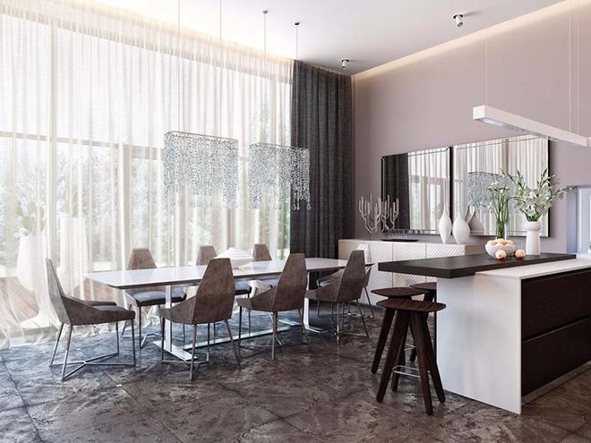 Tham khảo ngay những mẫu thiết kế này nếu bạn muốn có một phòng ăn đẹp miễn chê - Ảnh 8.
