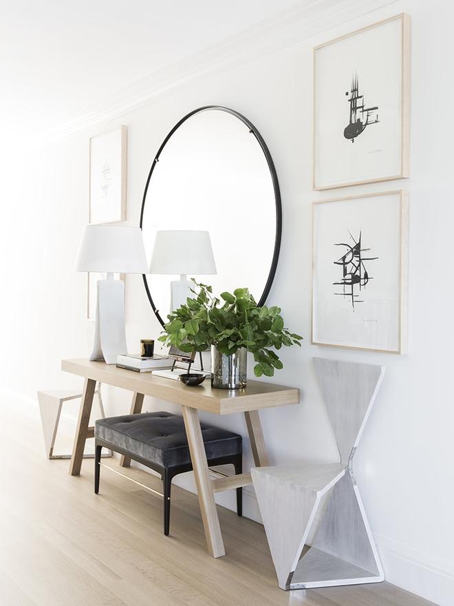 Chỉ cần một chiếc bàn nhỏ đủ khiến cho lối hành lang gia đình bạn ghi điểm   - Ảnh 11.