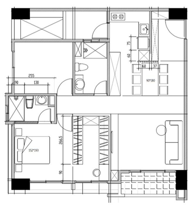 Căn hộ nhỏ vỏn vẹn 35m² trang trí theo phong cách Retro đẹp mê mẩn của cặp vợ chồng trẻ - Ảnh 2.