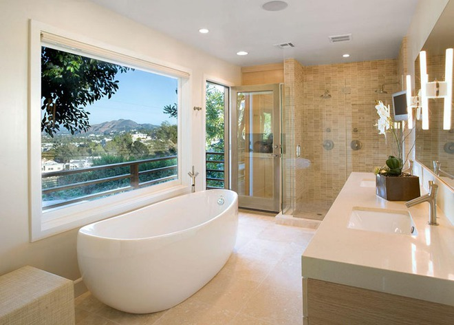 Những mẫu bồn tắm dưới đây sẽ giúp nhà tắm tỏa sáng bất ngờ - Ảnh 1.