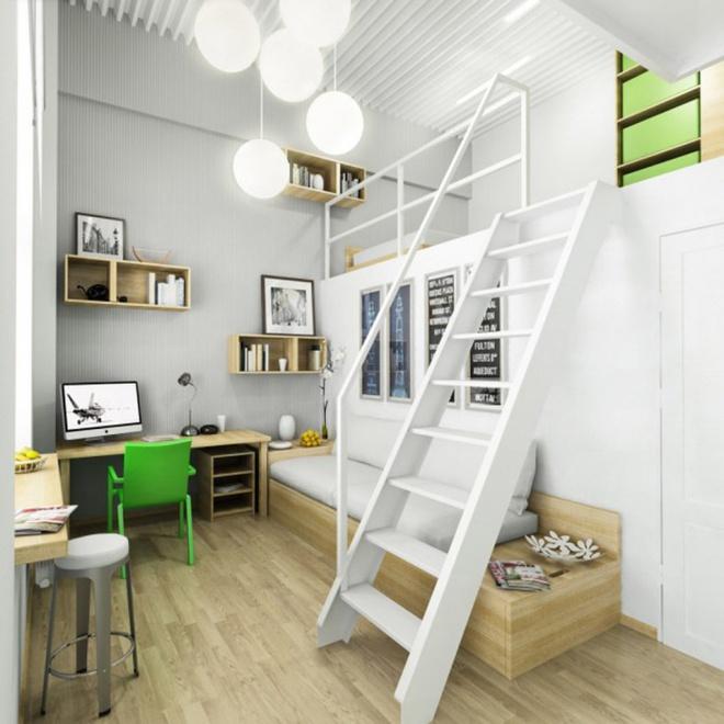Những thiết kế gác lửng đẹp như mơ cho nhà nhỏ hóa rộng thênh thang - Ảnh 3.