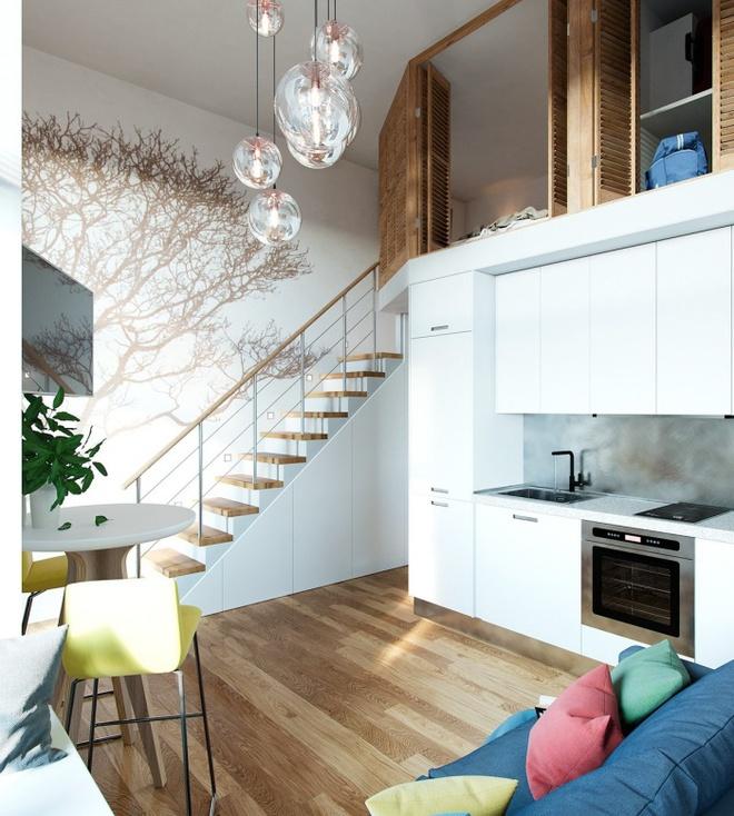 Những thiết kế gác lửng đẹp như mơ cho nhà nhỏ hóa rộng thênh thang - Ảnh 4.