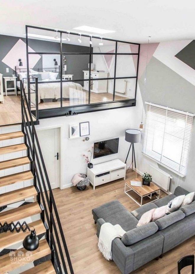 Những thiết kế gác lửng đẹp như mơ cho nhà nhỏ hóa rộng thênh thang - Ảnh 6.