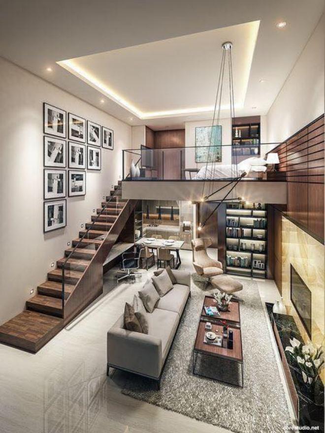 Những thiết kế gác lửng đẹp như mơ cho nhà nhỏ hóa rộng thênh thang - Ảnh 8.