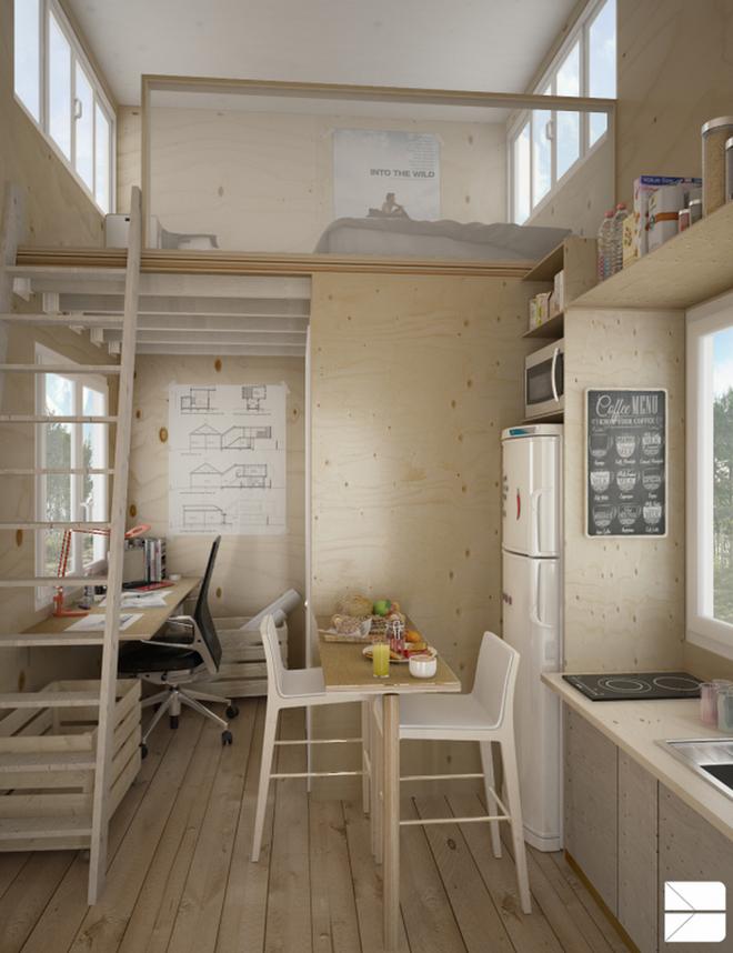 Những thiết kế gác lửng đẹp như mơ cho nhà nhỏ hóa rộng thênh thang - Ảnh 16.