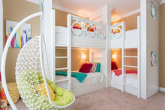 Mách bạn 5 cách thiết kế phòng ngủ chung cho các con khiến bé thích mê - Ảnh 8.