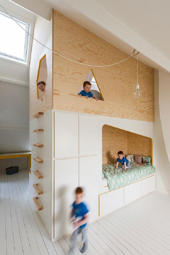 Mách bạn 5 cách thiết kế phòng ngủ chung cho các con khiến bé thích mê - Ảnh 9.