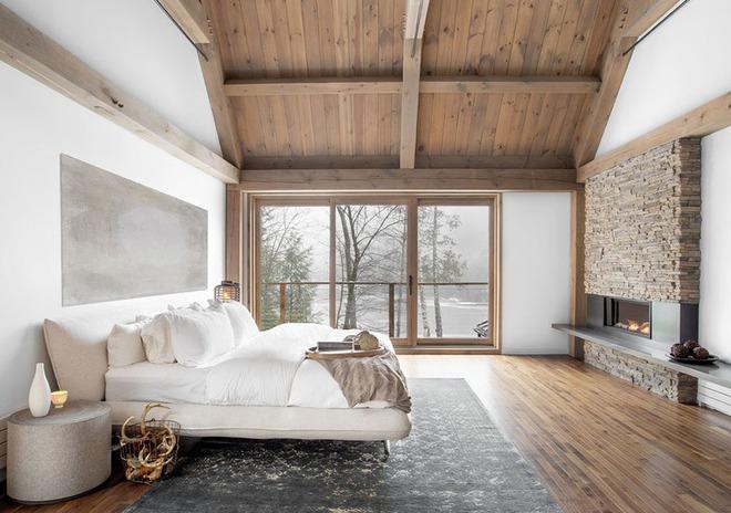 Bạn sẽ thấy tuyệt vời biết mấy khi sở hữu một phòng ngủ rustic thế này - Ảnh 1.