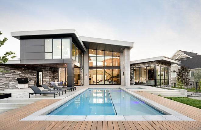Những ngôi nhà sở hữu bể bơi ngoài trời đẹp đến lịm tim - Ảnh 10.