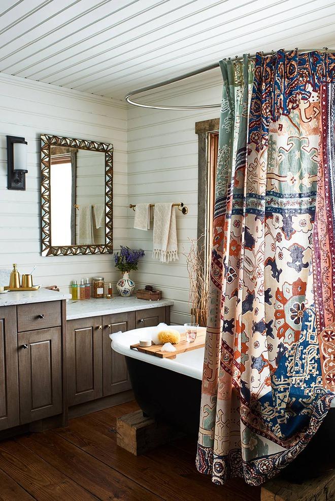 Có thể bạn không tin nhưng phong cách Bohemian cũng hợp với phòng tắm lắm đấy - Ảnh 1.