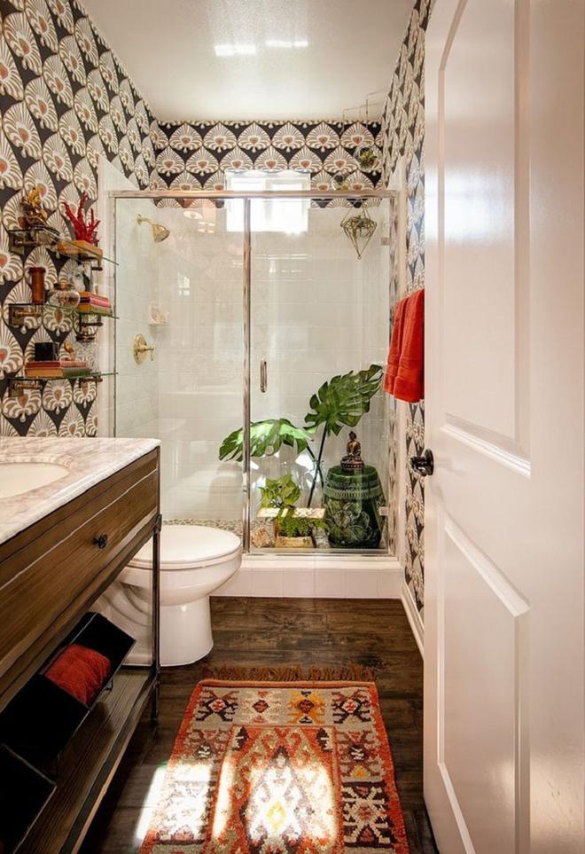 Có thể bạn không tin nhưng phong cách Bohemian cũng hợp với phòng tắm lắm đấy - Ảnh 3.