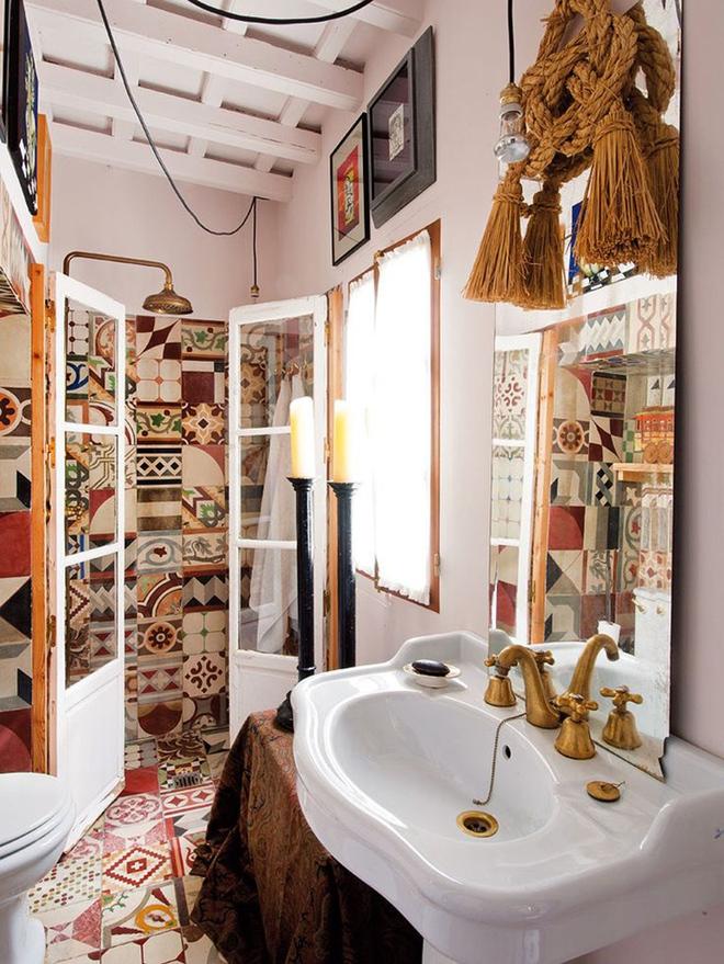 Có thể bạn không tin nhưng phong cách Bohemian cũng hợp với phòng tắm lắm đấy - Ảnh 9.