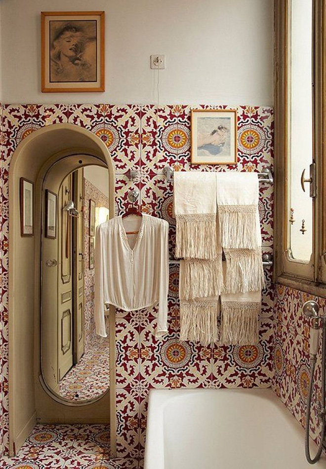 Có thể bạn không tin nhưng phong cách Bohemian cũng hợp với phòng tắm lắm đấy - Ảnh 11.
