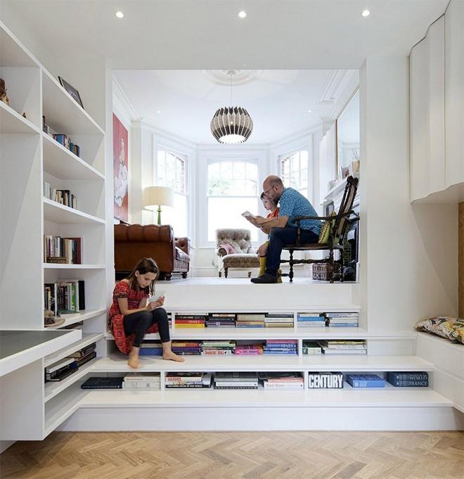 Những thiết kế tích hợp kệ sách với cầu thang vô cùng độc đáo - Ảnh 2.