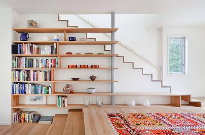 Những thiết kế tích hợp kệ sách với cầu thang vô cùng độc đáo - Ảnh 3.