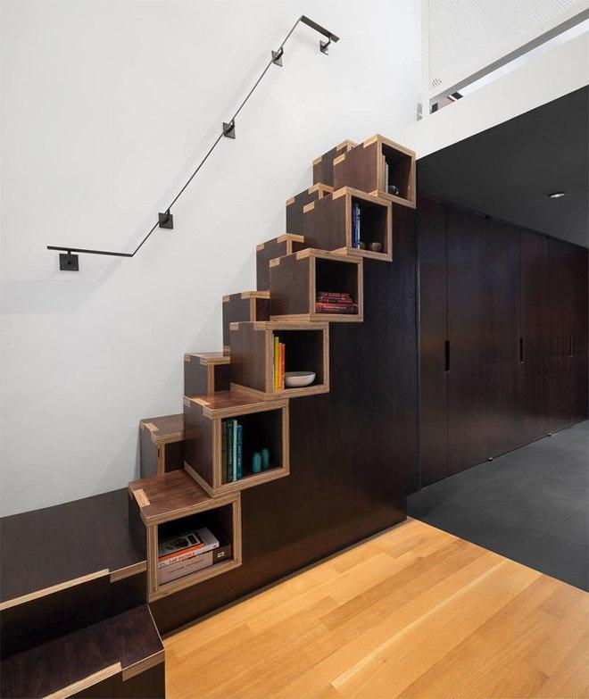Những thiết kế tích hợp kệ sách với cầu thang vô cùng độc đáo - Ảnh 8.