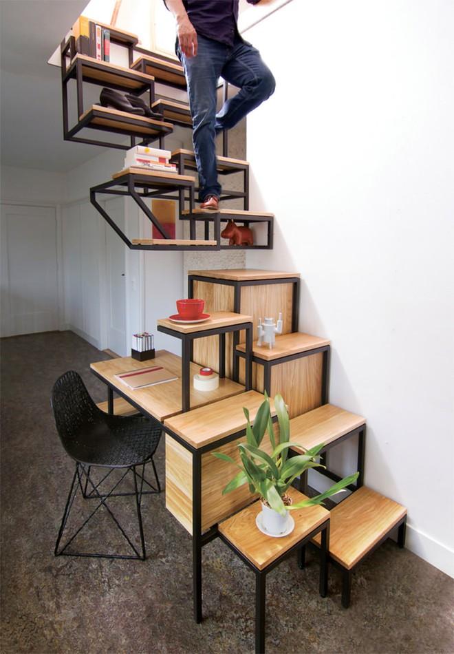 Những thiết kế tích hợp kệ sách với cầu thang vô cùng độc đáo - Ảnh 9.