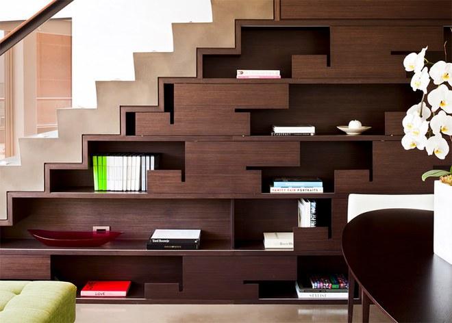Những thiết kế tích hợp kệ sách với cầu thang vô cùng độc đáo - Ảnh 10.