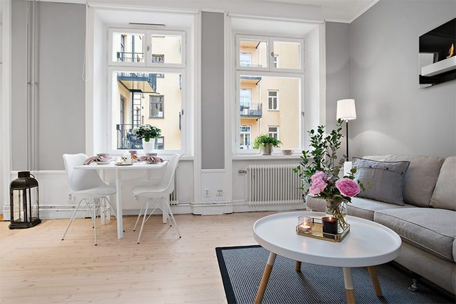 Căn hộ 39m² góc nào cũng yêu nhờ décor hoàn hảo với màu trắng và xám - Ảnh 2.