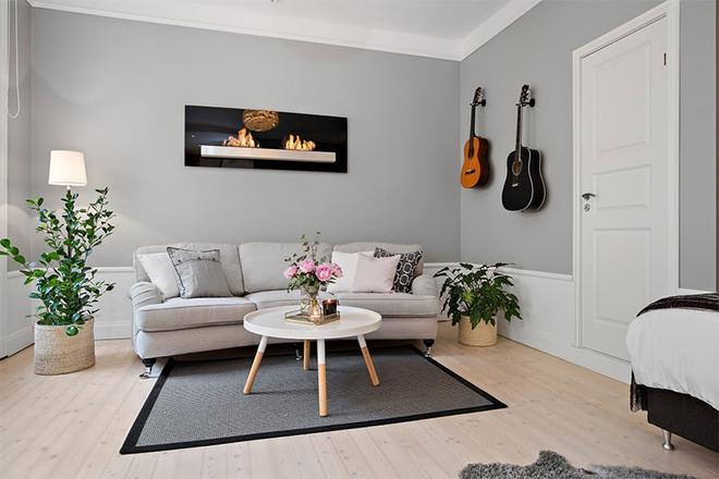 Căn hộ 39m² góc nào cũng yêu nhờ décor hoàn hảo với màu trắng và xám - Ảnh 4.