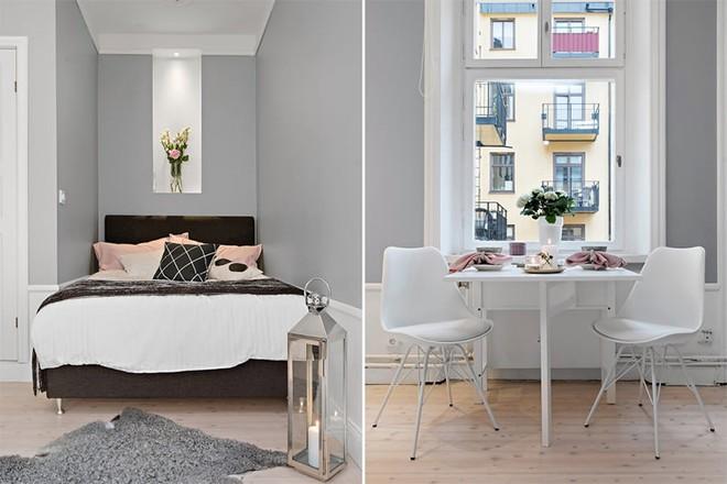 Căn hộ 39m² góc nào cũng yêu nhờ décor hoàn hảo với màu trắng và xám - Ảnh 6.