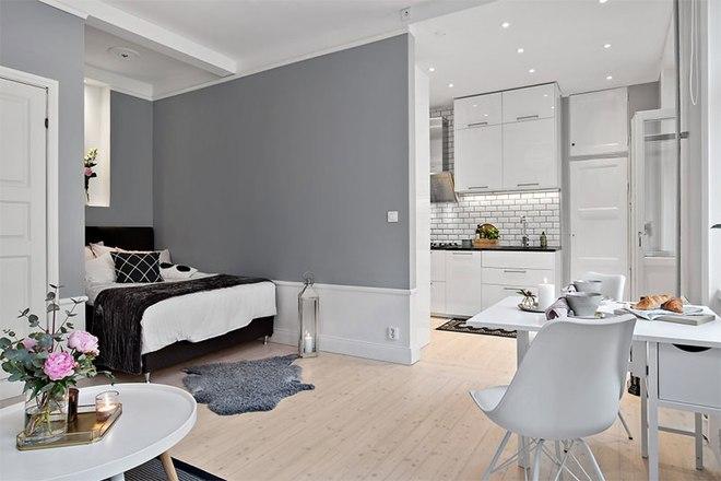 Căn hộ 39m² góc nào cũng yêu nhờ décor hoàn hảo với màu trắng và xám - Ảnh 7.