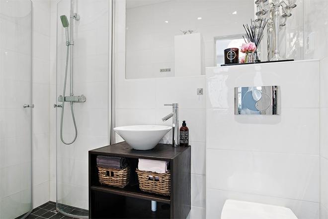Căn hộ 39m² góc nào cũng yêu nhờ décor hoàn hảo với màu trắng và xám - Ảnh 11.