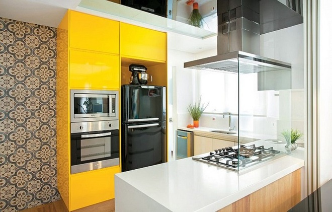 Vàng – gam màu cứu rỗi những căn bếp không có sự xuất hiện của ánh sáng tự nhiên - Ảnh 1.
