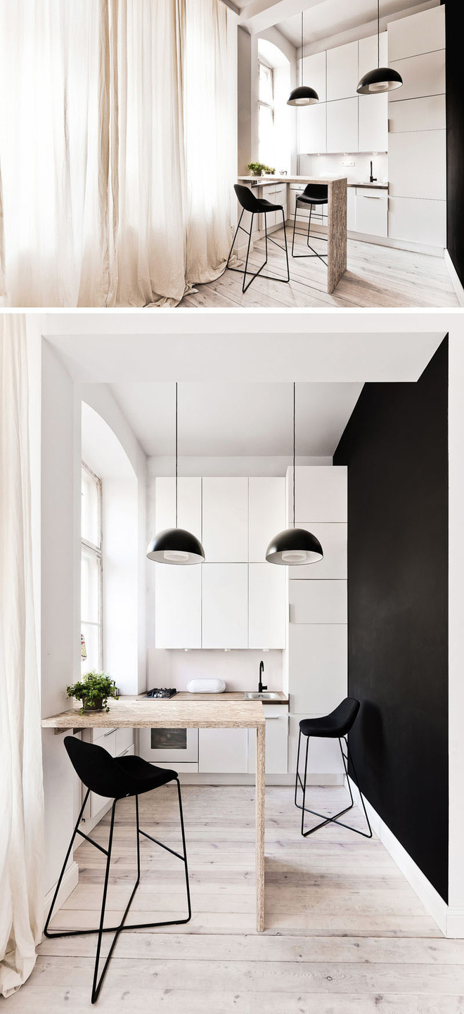 Những căn bếp nhỏ đẹp tới mức bạn sẵn sàng bỏ bếp rộng để được ở trong không gian này - Ảnh 3.