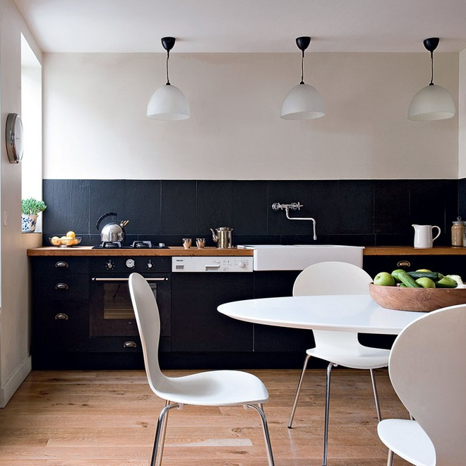 Sử dụng màu đen trong trang trí bếp: Kết quả vừa sạch vừa đẹp đến khó tin - Ảnh 7.