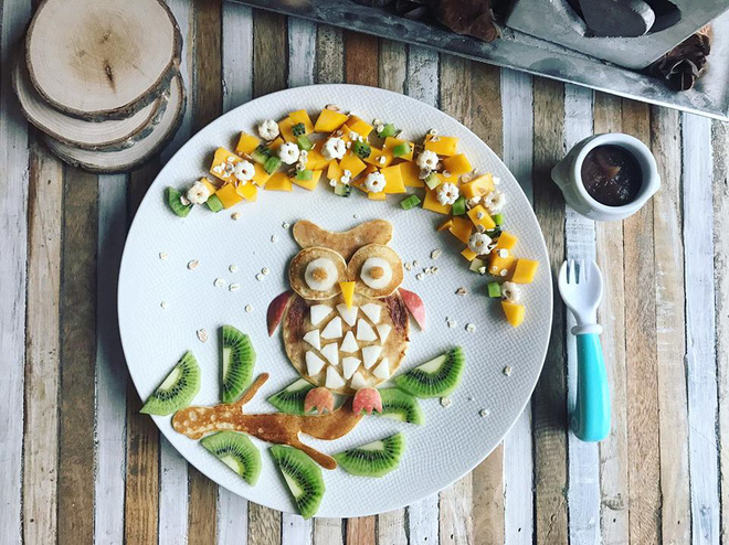 Mẹ Việt ở Pháp trang trí bữa ăn cho con chẳng khác gì những tác phẩm nghệ thuật đỉnh cao - Ảnh 1.