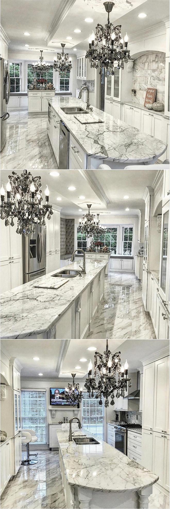 Giữa muôn vàn chất liệu khác nhau thì đá cẩm thạch vẫn luôn là lựa chọn hàng đầu cho mặt bàn bếp - Ảnh 2.