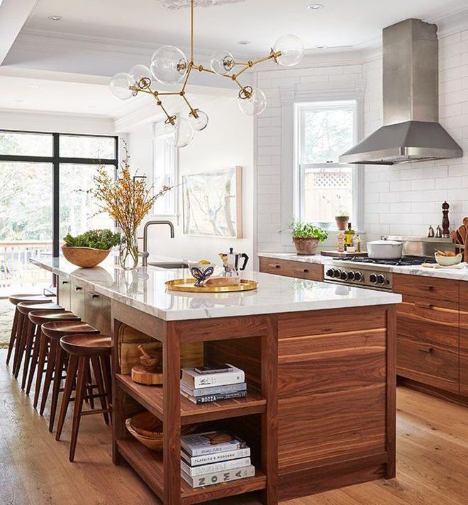 Giữa muôn vàn chất liệu khác nhau thì đá cẩm thạch vẫn luôn là lựa chọn hàng đầu cho mặt bàn bếp - Ảnh 12.