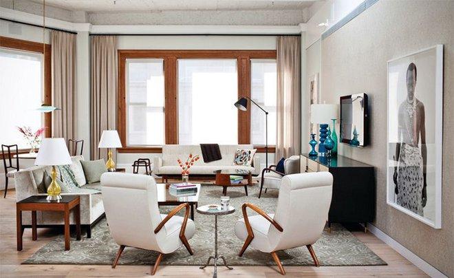 Ngây ngất trước vẻ đẹp của những phòng khách mang phong cách midcentury hiện đại nhưng vô cùng ấm cúng - Ảnh 1.